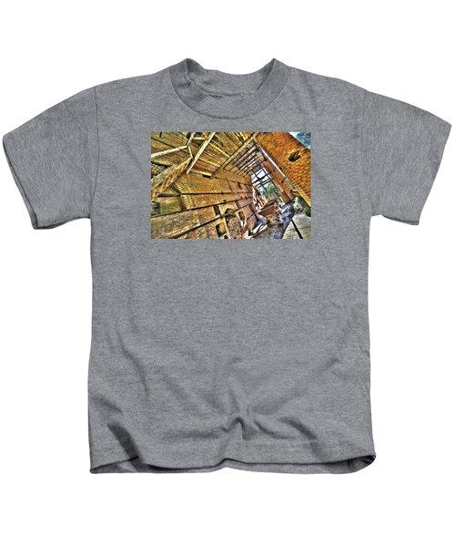 The Abandoned Furnace Quarry Building Kids T-Shirt
