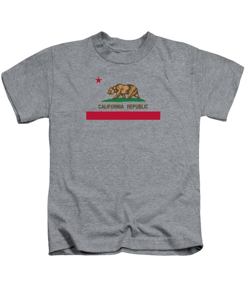 The Bear Flag - State Of California Kids T-Shirt by War Is Hell Store