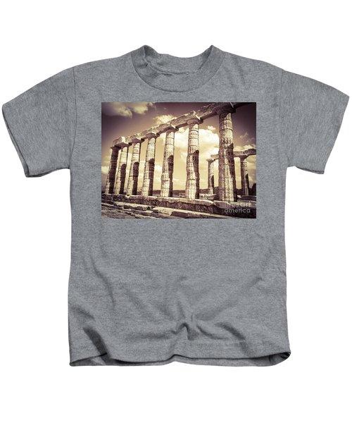 The Beauty Of The Temple Of Poseidon Kids T-Shirt