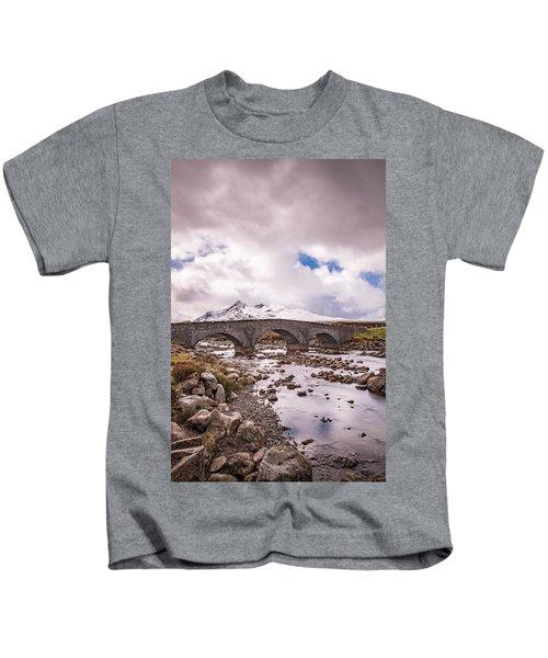 The Bridge At Sligachan On Skye Kids T-Shirt