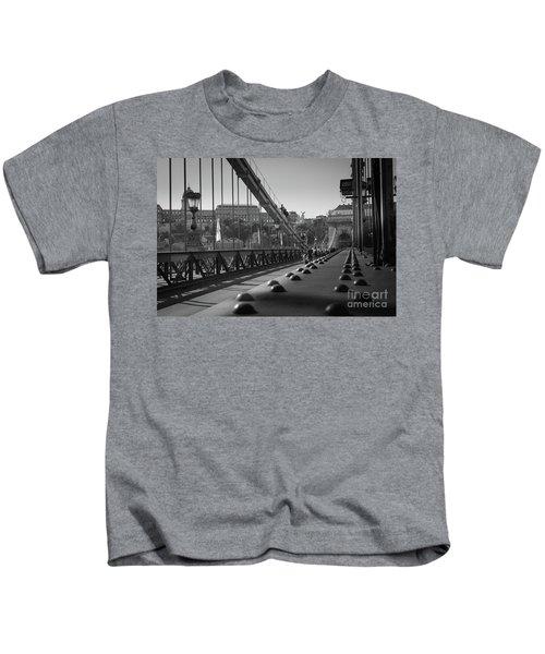 The Chain Bridge, Danube Budapest Kids T-Shirt