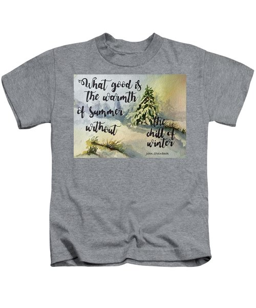The Chill Of Winter Kids T-Shirt