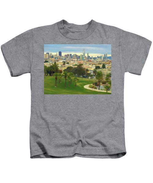 The City From Dolores Park Kids T-Shirt