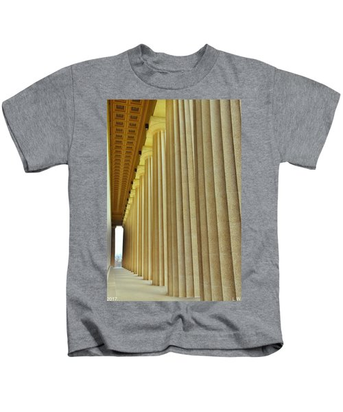 The Columns At The Parthenon In Nashville Tennessee Kids T-Shirt