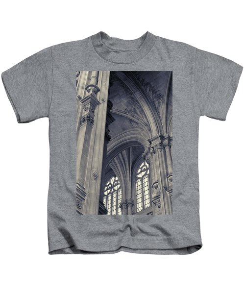 The Columns Of Saint-eustache, Paris, France. Kids T-Shirt