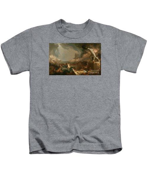 The Course Of Empire Destruction Kids T-Shirt