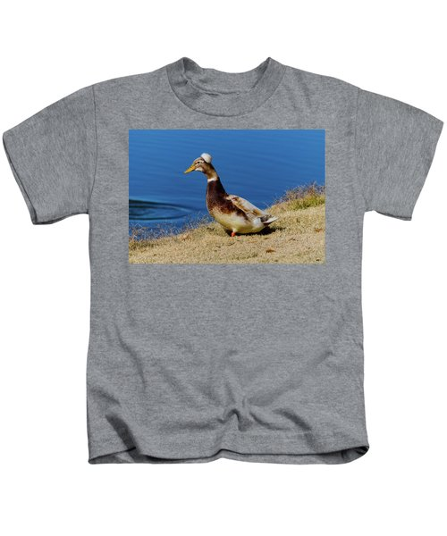 The Duck With The Pillbox Hat Kids T-Shirt