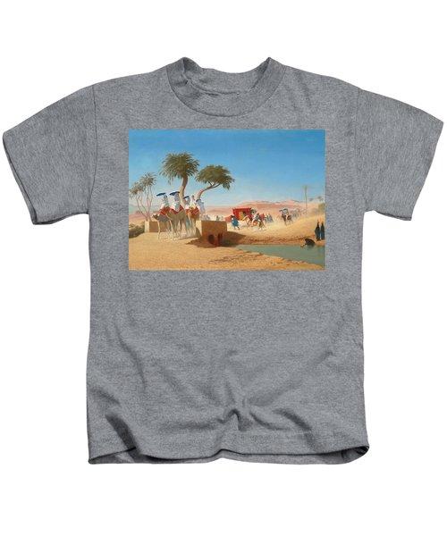 The Empress Eugenie Visiting The Pyramids Kids T-Shirt
