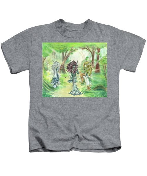 The Fae - Sylvan Creatures Of The Forest Kids T-Shirt