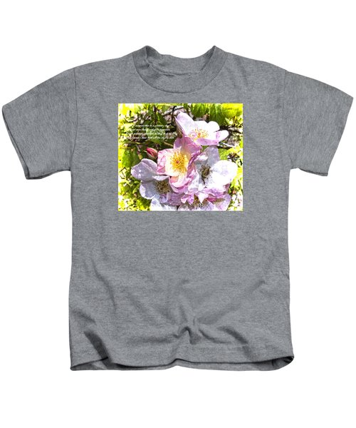 The Frailty Of Summer Roses And Of Love Kids T-Shirt