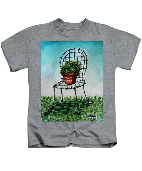 The French Garden Cafe Chair Kids T-Shirt