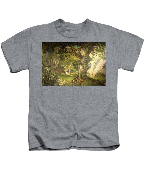 The Garden Of The Magician Klingsor, From The Parzival Cycle, Great Music Room Kids T-Shirt