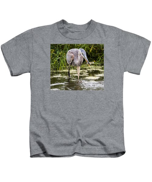 The Great Blue Heron Kids T-Shirt