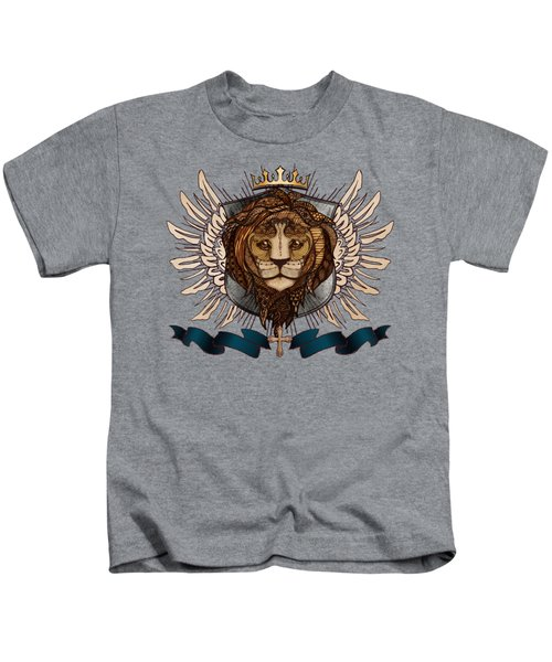The King's Heraldry II Kids T-Shirt by April Moen