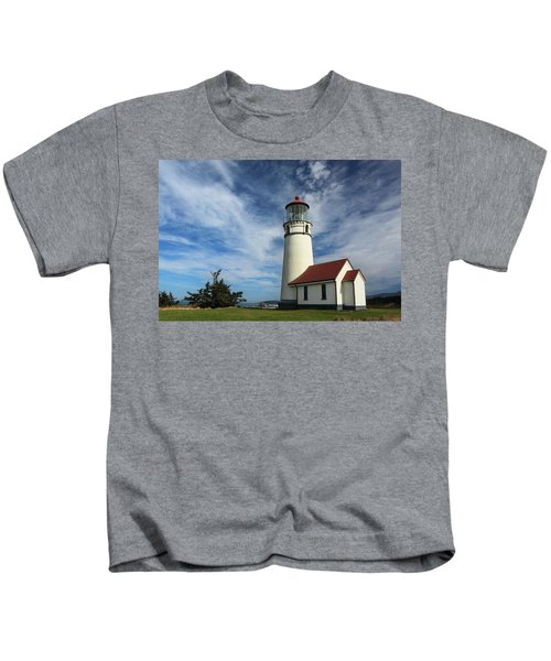 The Lighthouse At Cape Blanco Kids T-Shirt