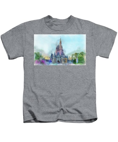 The Magic Kingdom Castle Wdw 05 Photo Art Kids T-Shirt