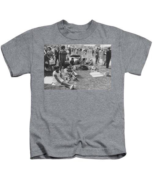 The March On Washington   At Washington Monument Grounds Kids T-Shirt