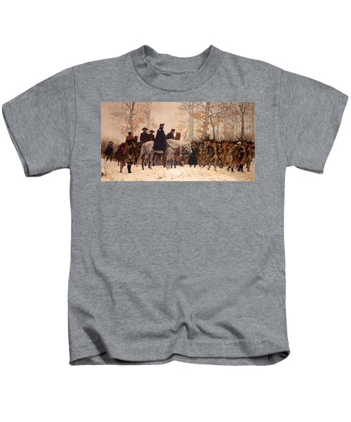 The March To Valley Forge Kids T-Shirt