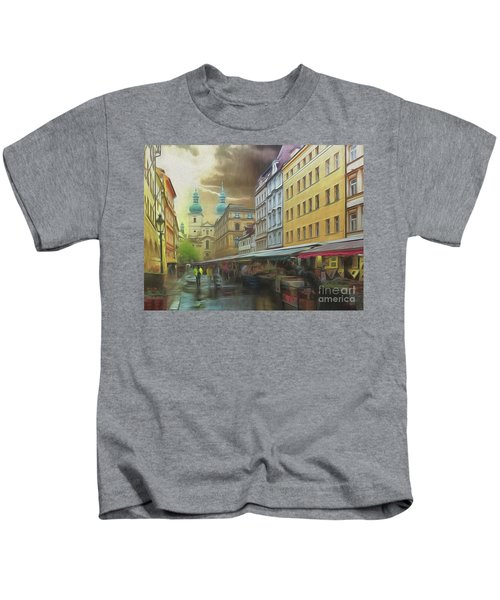 The Market In The Rain Kids T-Shirt