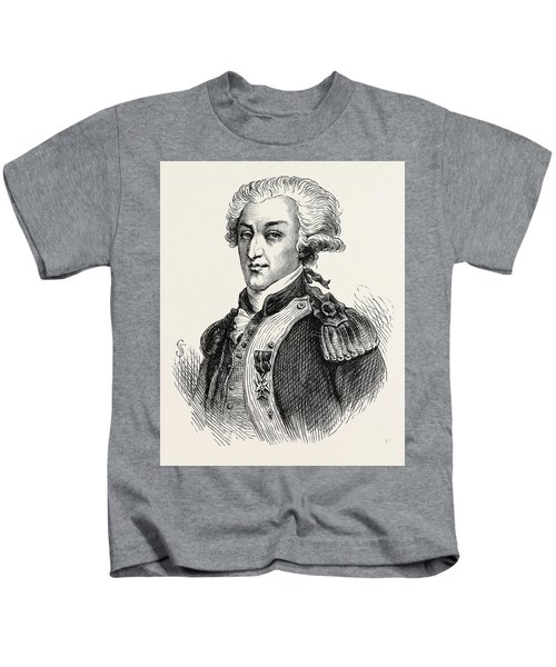 The Marquis De Lafayette Kids T-Shirt