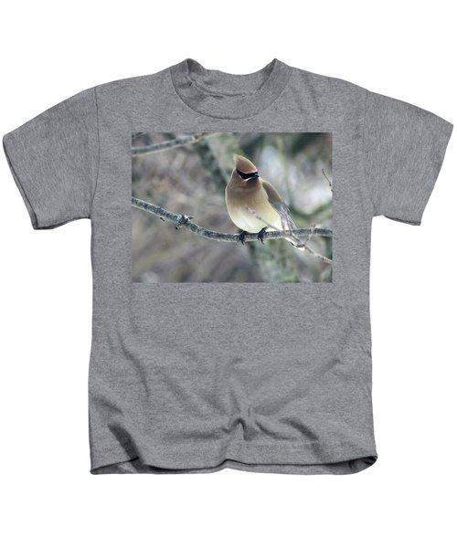 The Masked Cedar Waxwing Kids T-Shirt