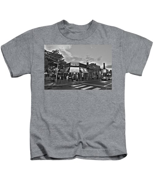 The Middle East In Central Square Cambridge Ma Black And White Kids T-Shirt