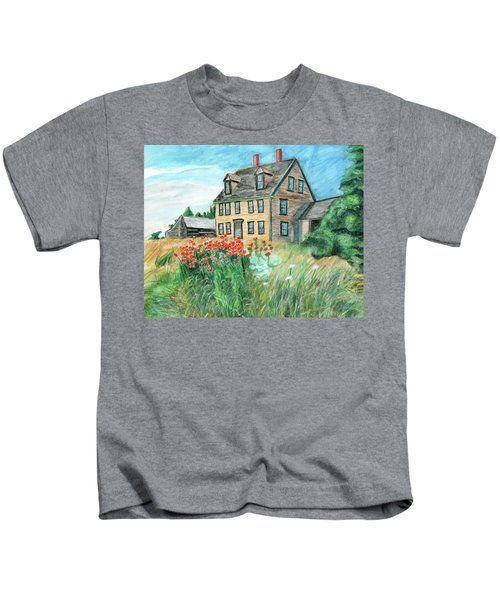 The Olson House With Poppies Kids T-Shirt
