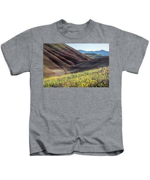 The Painted Hills In Bloom Kids T-Shirt