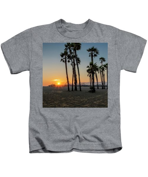 The Pier At Sunset - Square Kids T-Shirt