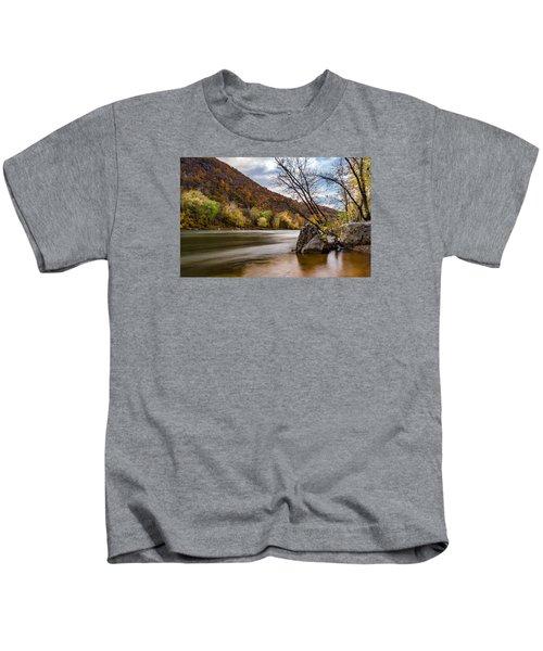 The Shenandoah In Autumn Kids T-Shirt
