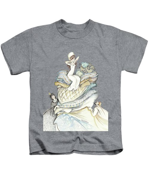 The Princess And The Pea, Illustration For Classic Fairy Tale Kids T-Shirt