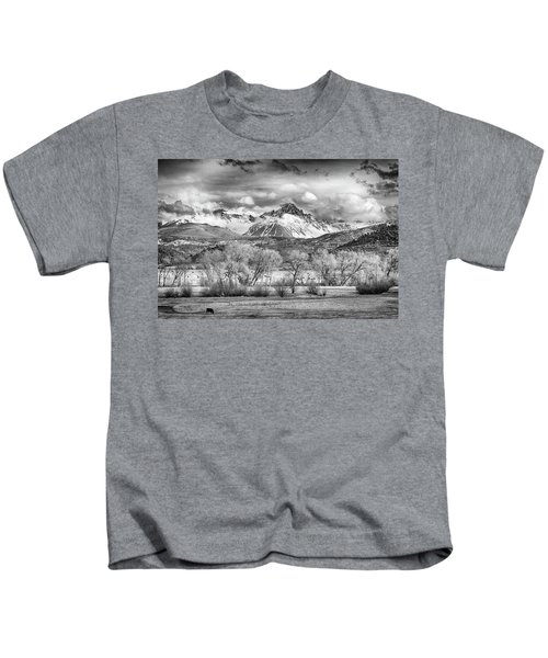 The Queen Of The San Juans In Monochrome Kids T-Shirt