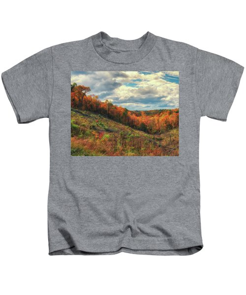 The Ridges Of Southern Ohio In Fall Kids T-Shirt
