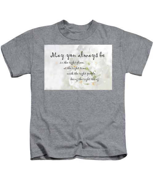 The Right Place Blessing Kids T-Shirt