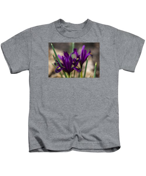The Rise Of The Early Royal Dwarf Iris Kids T-Shirt