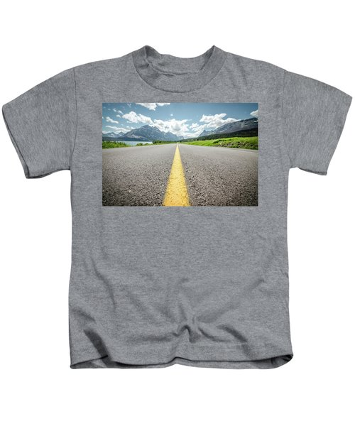 The Road To Glacier Kids T-Shirt