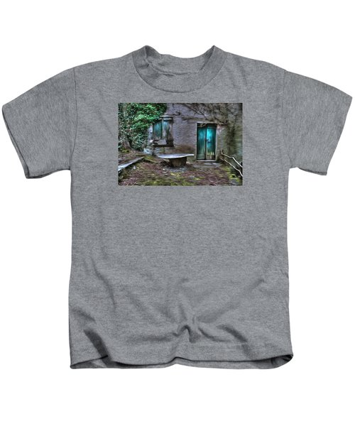 The Round Table House In The Abandoned Village Of The Ligurian Mountains High Way Kids T-Shirt