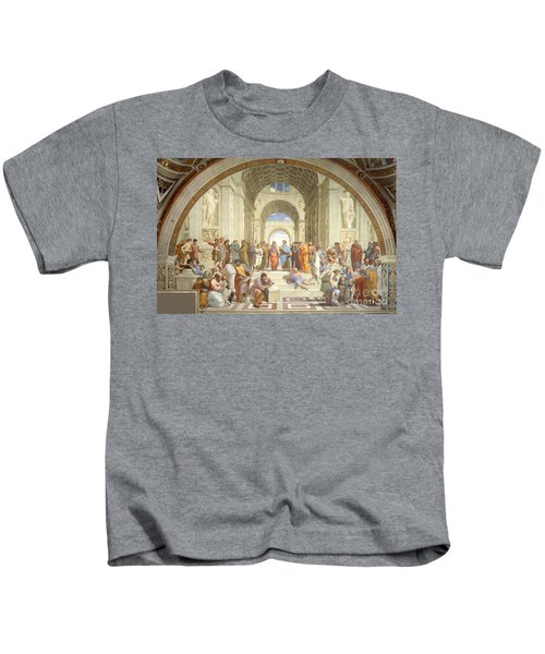 The School Of Athens, Raphael Kids T-Shirt
