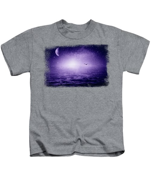 The Sea And The Universe - Ultra Violet Kids T-Shirt