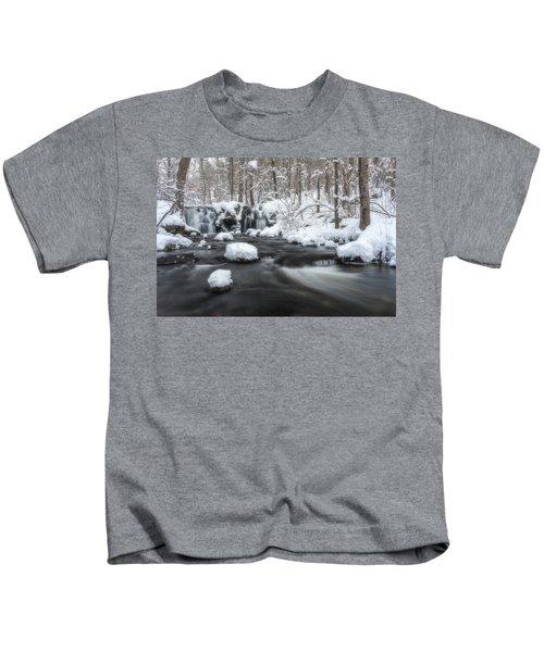 The Secret Waterfall In Winter 2 Kids T-Shirt