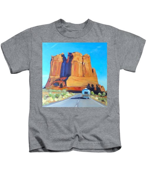 The Shadow Of The Three Gossips Arches Utah Kids T-Shirt