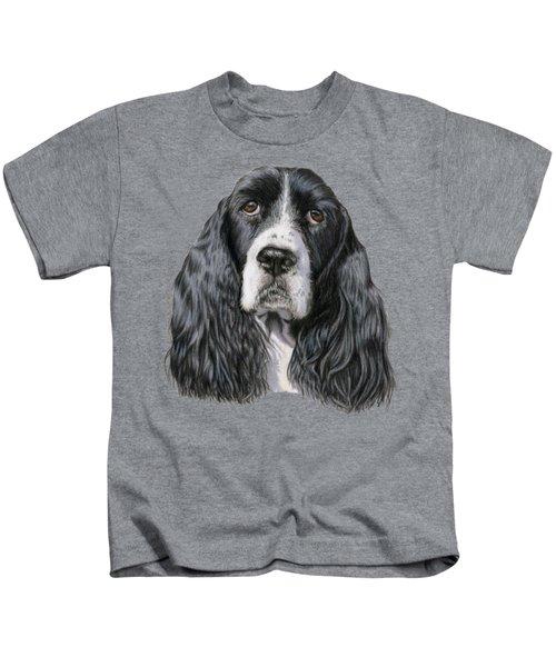 The Springer Spaniel Kids T-Shirt by Sarah Batalka