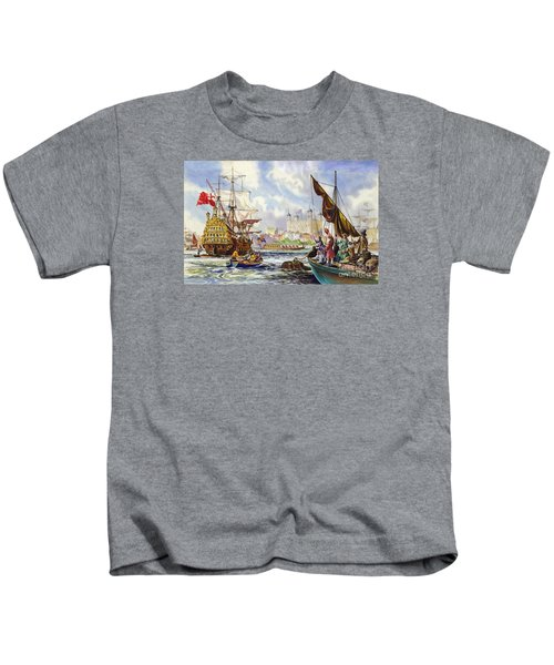 The Tower Of London In The Late 17th Century  Kids T-Shirt by English School