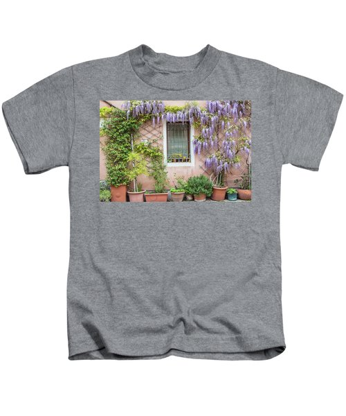 The Venice Italy Window  Kids T-Shirt