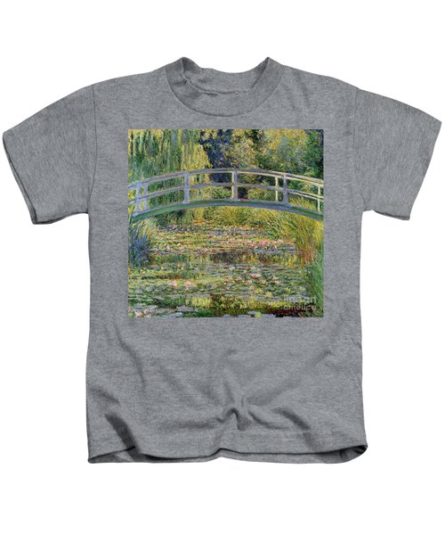 The Waterlily Pond With The Japanese Bridge Kids T-Shirt