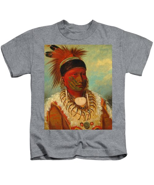 The White Cloud, Head Chief Of The Iowas Kids T-Shirt