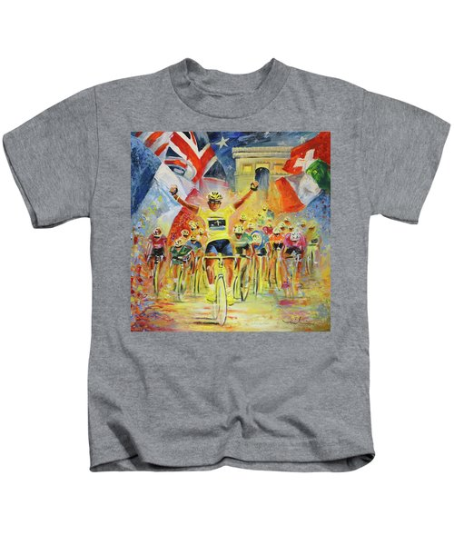 The Winner Of The Tour De France Kids T-Shirt