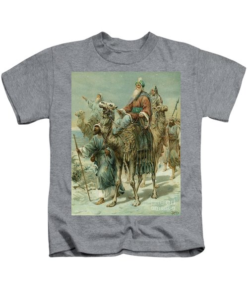 The Wise Men Seeking Jesus Kids T-Shirt