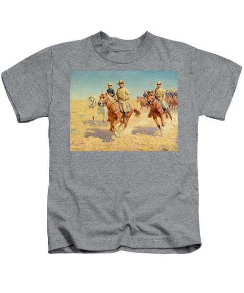 Theodore Roosevelt And The Rough Riders Kids T-Shirt