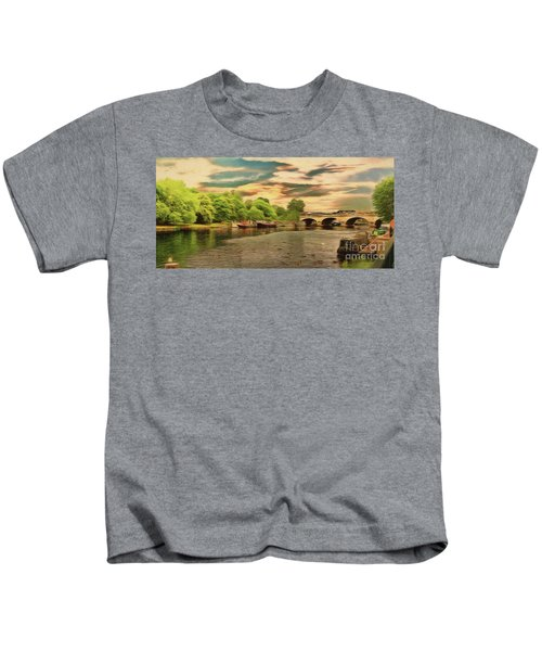 This Morning On The River Kids T-Shirt
